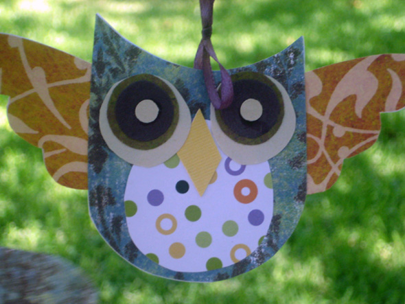 Craft paper owl