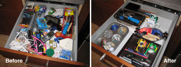 Before & After: Junk Drawer