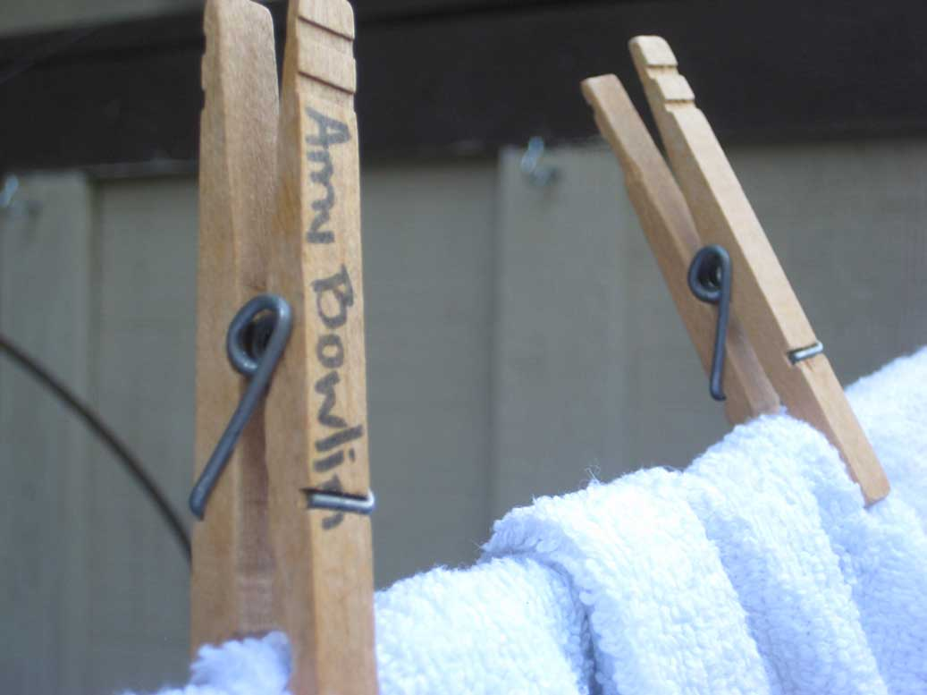 Old clothespin