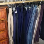 Closet Organization: Slacks & Skirts