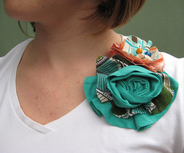 Recycled T-shirt Flowers