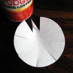 Roll and glue (or tape) each point