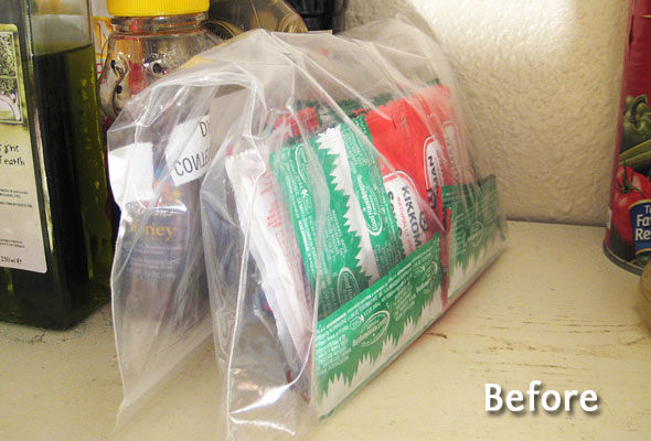 Organize This Condiment Packets