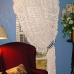 Crocheted Bedspread as a Curtain