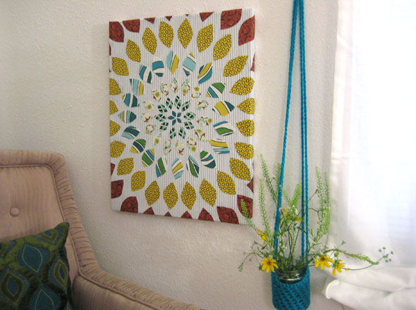 Fabric Flower Art