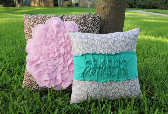 Rose and Tee Pillows