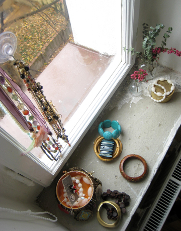 Bejeweled window sill