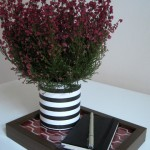 Upcycled Tin Can: Striped Flower Pot