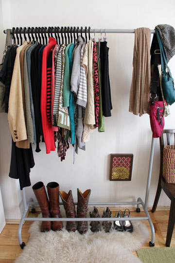 Boutique clothes storage